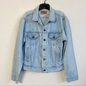 Vintage Levi's Faded Blue Denim Jean Jacket Sz XL